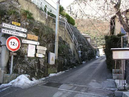 Die Seealpen in der Nähe der Cote d'Azur im Jänner 2009