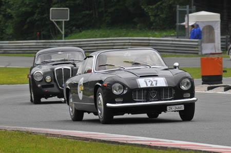 Gaisbergrennen 2013: Schikane auf dem Salzburgring - sportliche Lancias unter sich