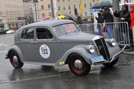 Gaisbergrennen 2013: Baujahr 1937 - Todesjahr von Vincenzo Lancia - eine ganz frühe Aprilia