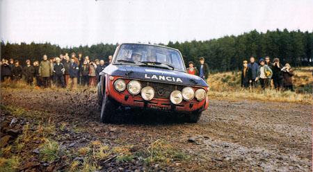 RAC-Rallye: 1970 - Kälström/Haggbom - noch mit dem ersten Motor und Aufhängung