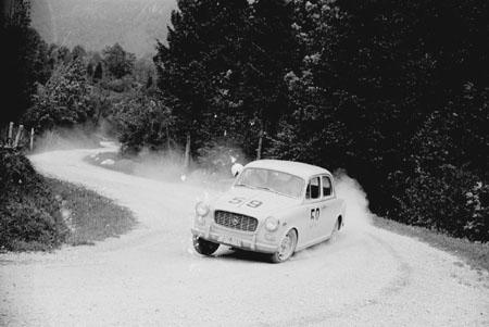 Int. Österreichische Alpenfahrt 1962 mit Lancia Appia - SP Klippitzthörl (Kärnten)