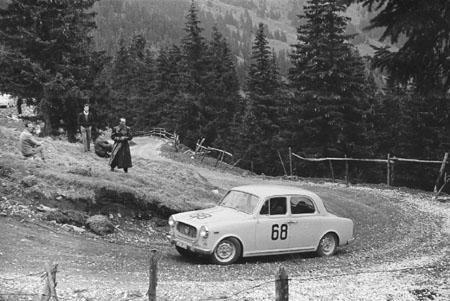 Int. Österreichische Alpenfahrt 1963 mit Lancia Appia - SP Turrach (Kärnten/Steiermark)