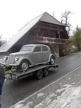 Lancia Aprilia: Auf dem Weg aus der Schweiz nach Österreich - Winter 2004