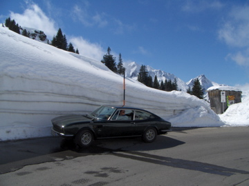 Classic Skiing: Lancia neben Schnee