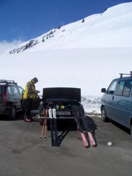 Classic Skiing: Lancia mit Ski