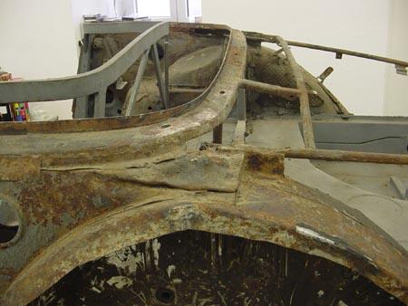 Lancia Flaminia Restaurierung: Blechverarbeitung bei Touring