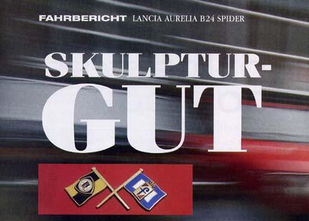 Motor Klassik 7/2006:  Lancia Aurelia B24 Spider