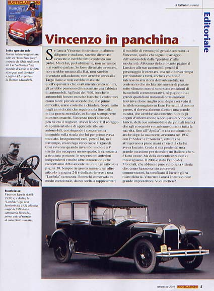Routeclassiche: Vincenzo in panchina