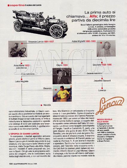 Quattroroute: La prima auto si chiamava Alfa