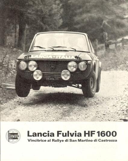 Fulvia-Dokumentation: Lancia Fulvia HF 1600