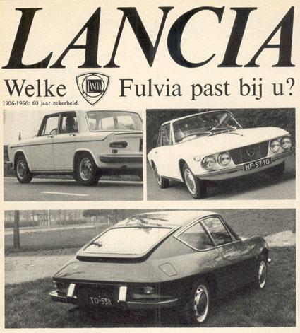 Fulvia-Dokumentation: Lancia - Welke - Fulvia past bij u?