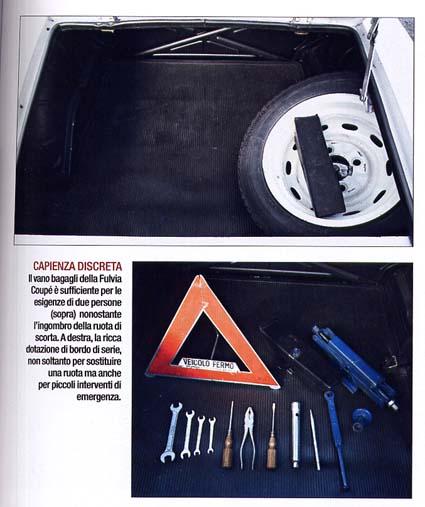 Fulvia-Berichte: Aufgeräumter Kofferraum inkl. Werkzeug - so soll's sein!