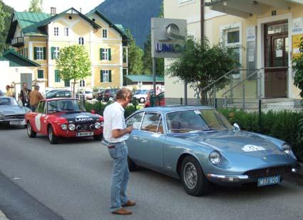 Die Castrol Sportwagen Alpentrophy 2009: Langsam kühlen Motoren und Bremsen ab....