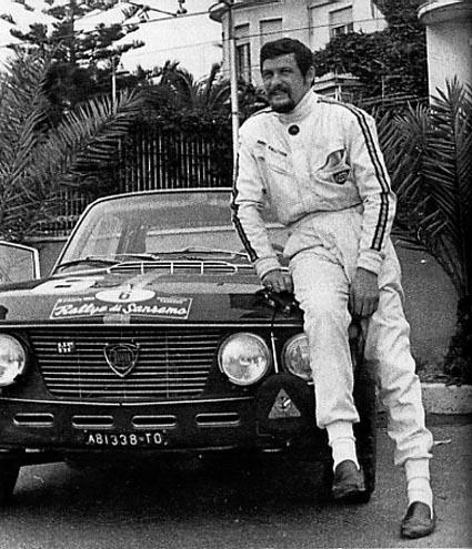 "Harry Källström: Rallye San Remo 1968 - (Europameister) Harry Källström auf 1,3 HF (Foto aus Enzo Altoriio ""Lancia Fulvia HF"")"