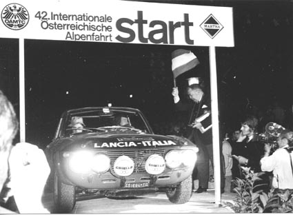 Harry Källström: Österr. Alpenfahrt 1971 - Start in Baden bei Wien