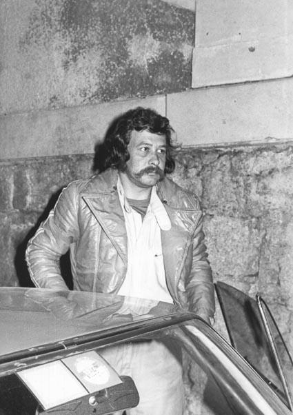 Harry Källström: Vor dem Start zur Österr. Alpenfahrt 1972 in Baden bei Wien