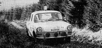 RAC-Rallye 1963: Harry Källström/Haggbom auf VW 1500 S - 2. Platz!