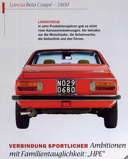 Lancia Sonderheft: AutoClassic - Sonderband Nr. 1 - Italiens schönste Klassiker: Lancia Beta Coupè