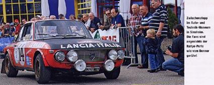 Lancia Sonderheft: Man beachte den Bildtext: Zwischenstopp im Auto- und Technikmuseum in Sinsheim