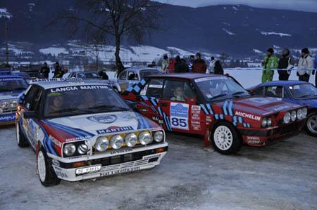 """Historic Ice Trophy 2010: Ein Teil der """"Slowly Sideways""""-Truppe (Alle Fotos J. Mayrhofer/Salzburg)"""