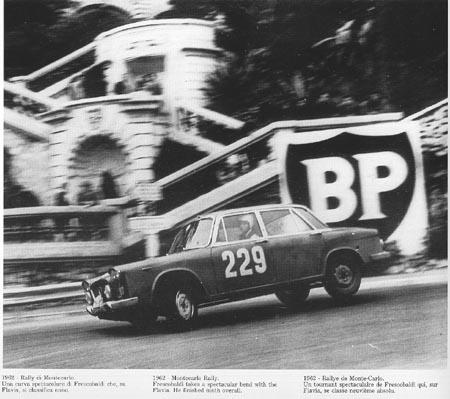 Rallye Montecarlo 1962 - P. Frescobaldi auf dem GP-Kurs