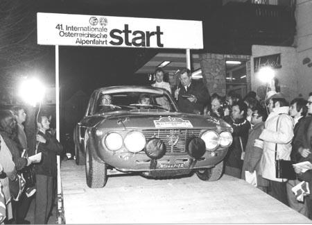 Lancia-Söldner: Simo Lampinen am Start Alpenfahrt 1970 - er blieb bis in die Stratos-Zeit (Archiv TMW Wien)