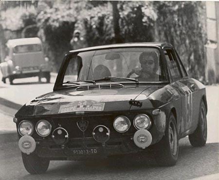 Lancia-Söldner: Neben jedem erfolgreichen Mann sitzt eine erfolgreiche Frau - Claudine Bouchet-Trautmann beim Coupe des Alpes 1968