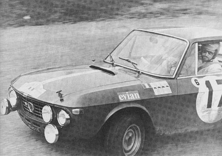 Lancia-Söldner: Kurzes Gastspiel 1969: Timo Makinen - nur Ausfälle! (Hier Coupe des Alpes)