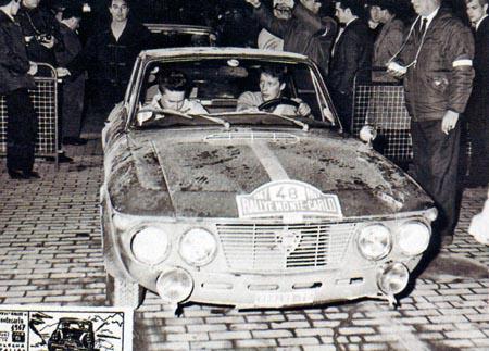 Lancia-Söldner: Hannu Mikkola Monte Carlo 1968 - über's Niederalpl flog er im Mai 1968
