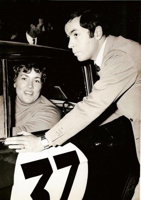 Lancia-Söldner: Pat Moss-Carlsson - hier mit Cesare Fiorio Monte Carlo 1968