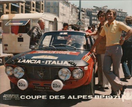 Lancia-Söldner: René Trautmann beim letzten Coupe des Alpes 1971 - 4. Platz und Pokal