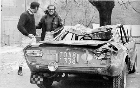 Lancia-Söldner: Tony Fall und John Davenport - Montecarlo 1970 - aber drei Siege für Lancia (B. Brägger, Rallye Monte-Carlo)