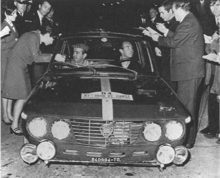 Lancia Fulvia: Leo Cella/Luciano Lombardini - Tour de Corse 1966
