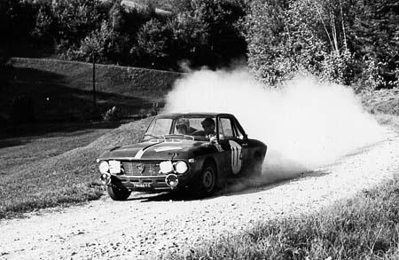 Lancia Fulvia: Cella/Lombardini - München-Wien-Budapest 1966 - 2. Platz hinto T. Makinen (Foto TMW Wien)