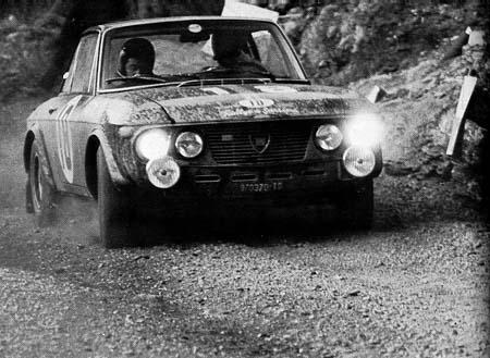 Lancia Fulvia: A. Ballestrieri/D. Audetto - San Remo 1968 (Foto R. Bonetto, Rallyes, 1971)