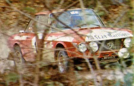 "Lancia Fulvia: ""Gastarbeiiter"" J. Ragnotti - San Remo 1972 - erstmals in Marlboro-Livree"
