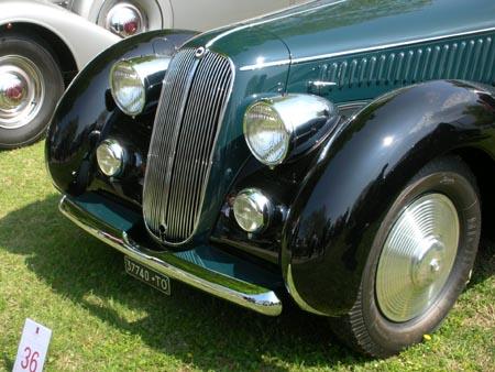 Concorso d'Eleganza Villa d'Este: Astura 4. Serie -  Cabriolet Pinin Farina, 1939, aus der Schweiz.