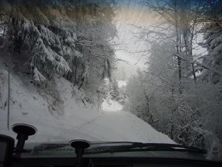 Wald4tel-Classic Winter Rallye: Niederösterreich im Herbst 2010: Da fragten sich die Organisatoren: Kommen die Teilnehmer da durch?