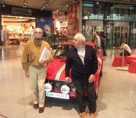 Lancia-Nostalgie: Arnoldo Bernacchini (links) und Raffaele Pinto im Q19