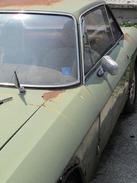 Lancia-Rost: Als Tarnfarbe durchaus noch zu gebrauchen