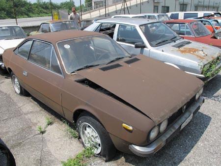 Lancia-Rost: Heute modern Mattbraun, damals bei Lancia schon umsonst