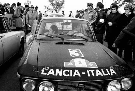 Mario Mannucci: 1000 Minuten Rallye 1971 - Zwangsrast in Seewiesen. Gesamtsieger mit Munari