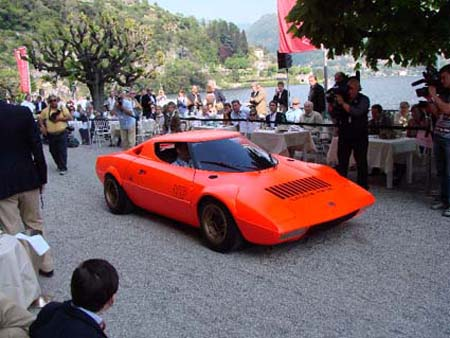 Mobilität aus Wien 12., Stratos Prototyp vor der Villa d'Este 2008