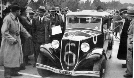 Italienische Straßenrennen: Targa Florio 1936 - Gesamtsieger Constanino Magistri auf Augusta