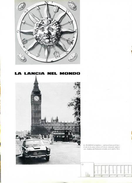 Periodico di Informazione: Lancia Flaminia in Westminster (auf der richtigen Straßenseite ?)
