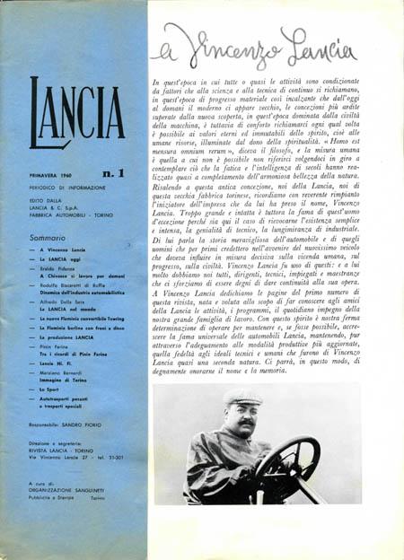 """Periodico di Informazione: Nummer 1 vom Frühjahr 1960 - """"Vincenzo schau aba!"""" (Österreichischer Dialektbegriff für den Anruf eines verstorbenen Vorbildes/Helden)"""