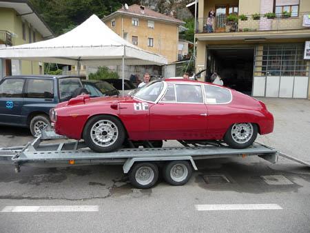 Grand Prix Historique 2012: Aufgenommen in Fobello 2010 (Per Edvardsson Lancia Club Schweden)