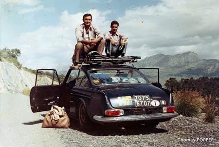 Mit dieser Flavia fuhr Munari 1966 die Rallye Monte Carlo - hier Bertreuung für die Rallye San Martino di Castrozza 1967