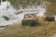 Munari 1967 in Korsika (1. Sieg) und 1969 bei der Rally Sanremo (ausgeschieden)
