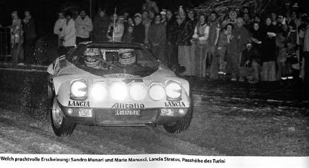Abschied von Lancia: Sandro Munari und Mario Mannucci im Lancia Stratos